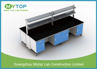 Bacteriostatic Hospital Lab Furniture Lab Island Table For Clean Room C Frame