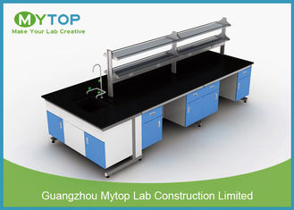 Metal Hospital Lab Furniture , Laboratory Work Benches For PCR Research