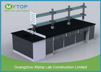 Solvent Resistant Science Laboratory Furniture With Water Sink and Splash